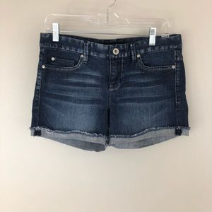 Calvin Klein Shorts Dark Wash Cuffed Mid Rise 4